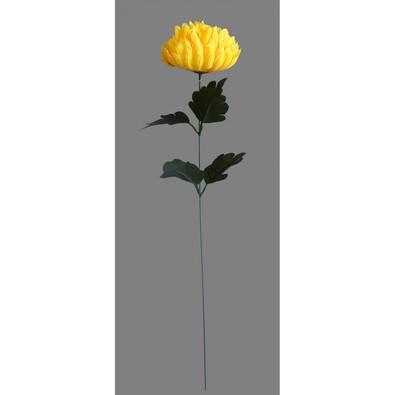 Umelá kvetina Chryzantéma, žltá