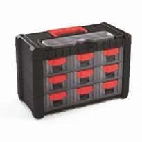 Cargo függeszthető csavartartó doboz, 9 rekesszel