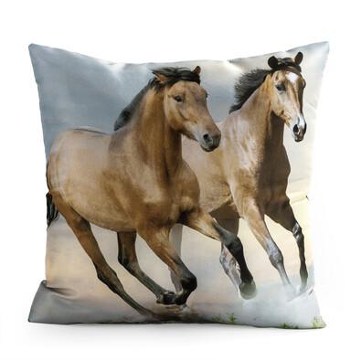 Polštářek Horses Divocí koně, 40 x 40 cm