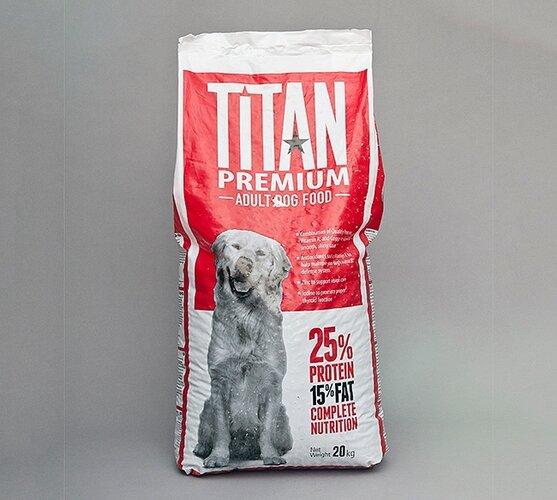 Titan premium krmivo pre dospelé psy, 20kg