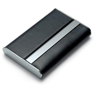 Kožené pouzdro na vizitky Giorgio, černé