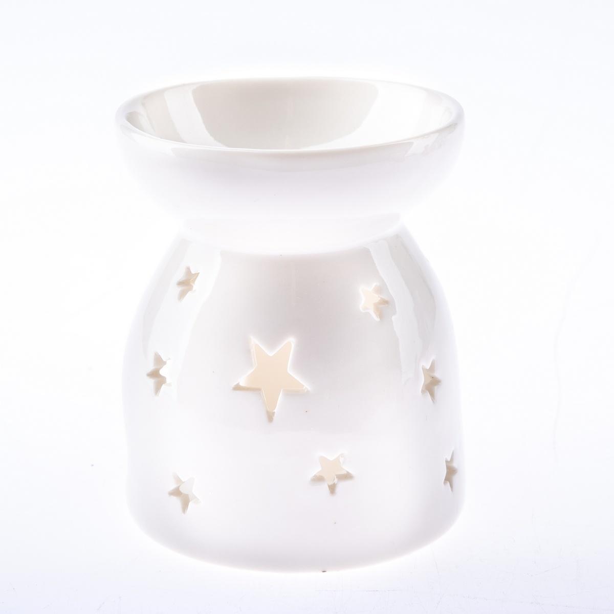 Porcelánová aromalampa Stars, 9 x 10,5 cm