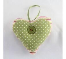 Serce tekstylne, zielone