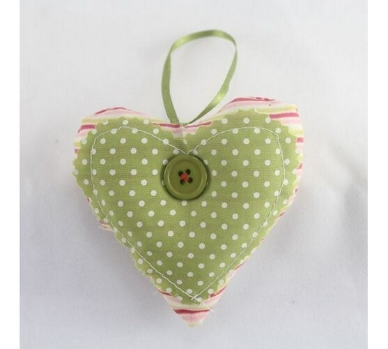 Textilné srdce, zelené