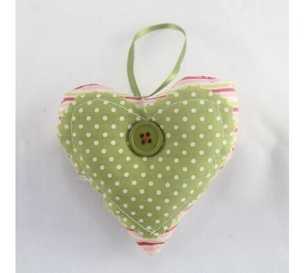 Textilní srdce, zelené
