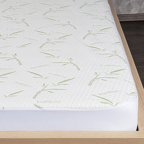 4Home Bamboo Nepropustný chránič matrace s lemem, 90 x 200 cm + 30 cm