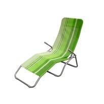 Happy Green összecsukható napozóágy zöld csíkos