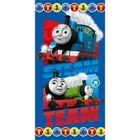 Prosop plajă Trenulețul Thomas Steam Team, 70 x 140 cm