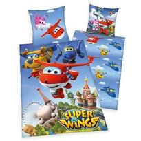 Herding Super Wings gyermek pamut ágynemű, 140 x 200 cm, 70 x 90 cm