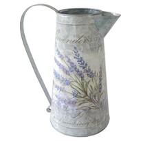 Plechová konvička Lavender, 15 x 27 cm