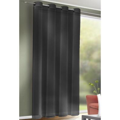Till függöny karikákkal antracit, 140 x 245 cm