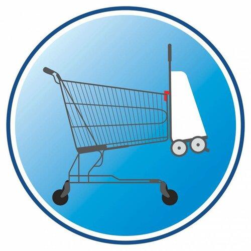 Sacoşă de cumpărături pe rotile Gimmi Twin, gri, 56 l