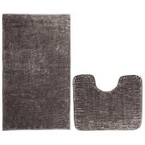 AmeliaHome Bati fürdőszobai kilépő szett, barna, 2 db, 50 x 80 cm, 40 x 50 cm