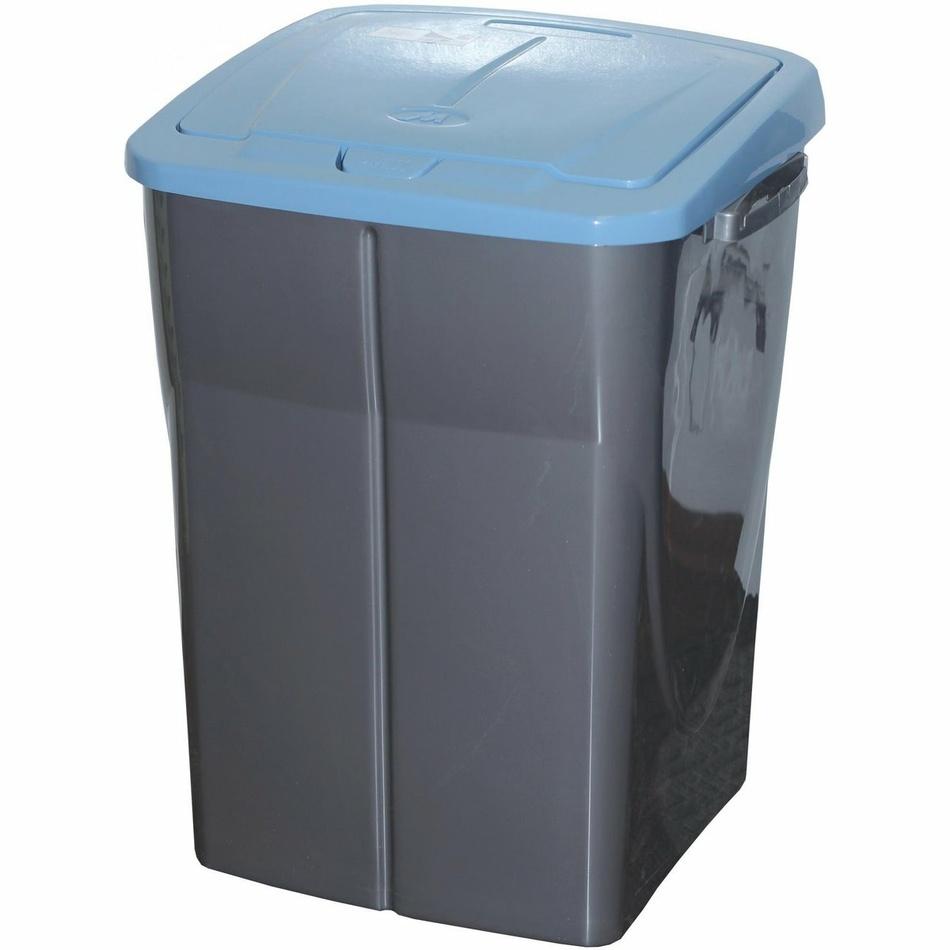 Kosz na śmieci do segregacji 51 x 36 x 36,5 cm, niebieska pokrywa, 45 l