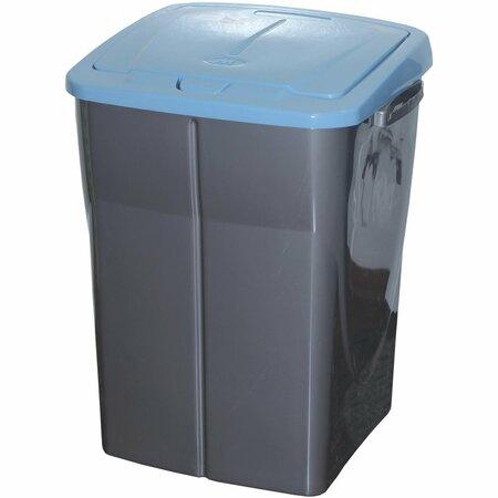 Szelektív hulladékgyűjtő kosár, 51 x 36 x 36,5 cm, kék fedél, 45 l