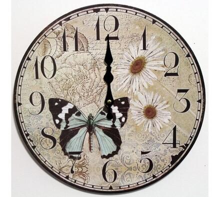 Nástěnné hodiny kopretiny
