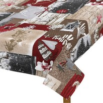 Obrus Zasnežené Vianoce, 70 x 70 cm
