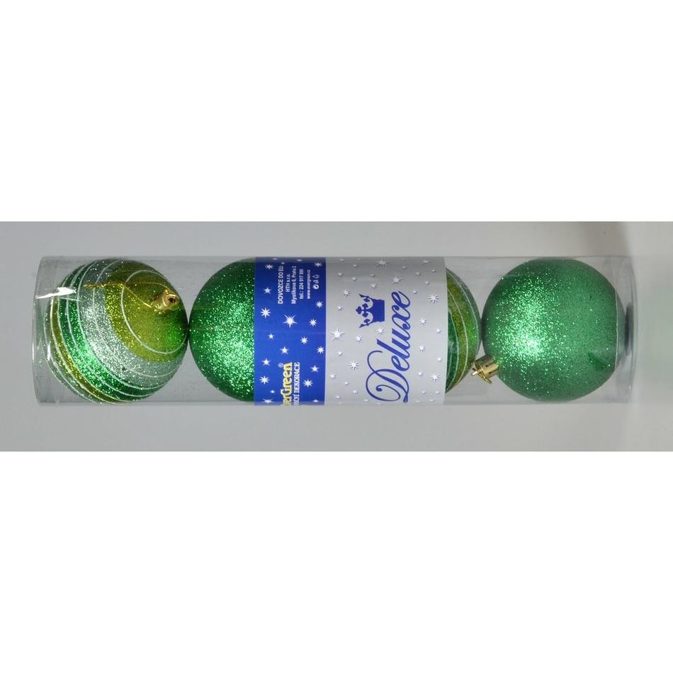 Vánoční koule Stripes zelená, pr. 8 cm