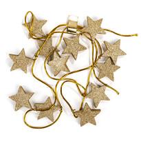 Vánoční girlanda s hvězdami zlatá, 220 cm