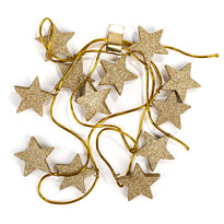 Vianočná girlanda s hviezdami zlatá, 220 cm