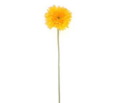 Umělá květina gerbera 3 ks žlutá