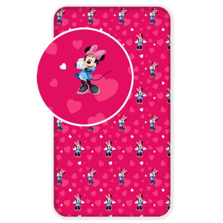 Bawełniane prześcieradło dziecięce Minnie Mouse 2017, 90 x 200 cm