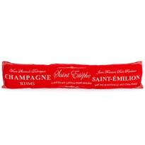 Ozdobný těsnící polštář do oken Champagne červená, 90 x 20 cm