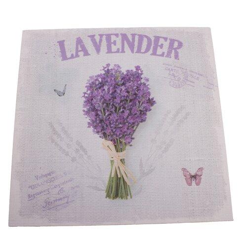 Lavender vászonkép, 28 x 28 cm