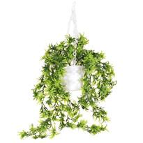 Floare artificială în ghiveci suspendat, 58 cm