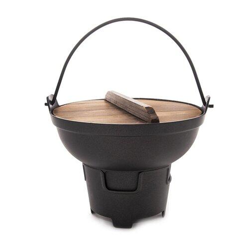 Orion Kotlík/Fondue s dřevěnou poklicí pr. 21,5 cm