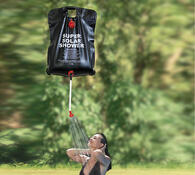 Zahradní solární sprcha černá