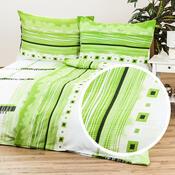 Krepové povlečení Maxim green, 140 x 200 cm, 70 x 90 cm