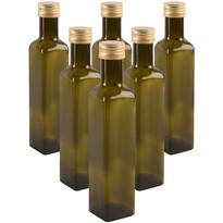 Orion Sada sklenených fliaš s viečkom Olej 0,5 l, 6 ks