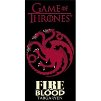 Osuška Game of Thrones Fire and Blood, 70 x 140 cm