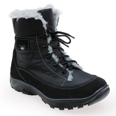 Santé dámská zimní obuv s kožíškem černá, 37