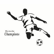Naklejka dekoracyjna Piłkarz, czarny