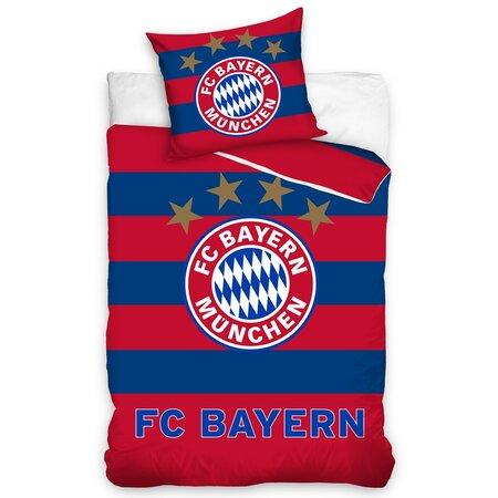 Pamut ágyneműhuzat FC Bayern München Stripes, 140 x 200 cm, 70 x 80 cm