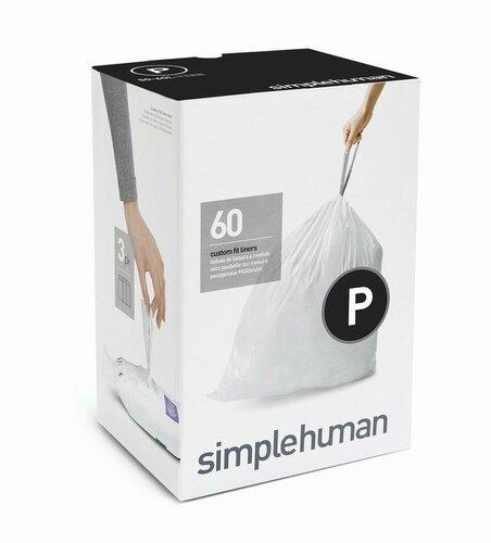 Vrecia do odpadkového koša 50-60 L, Simplehuman typ P zaťahovacie, 3 x 20 ks ( 60 vriec )