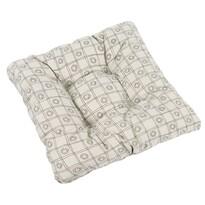 Pernă scaun Ivo UNI Pătrate maro, 40 x 40 cm