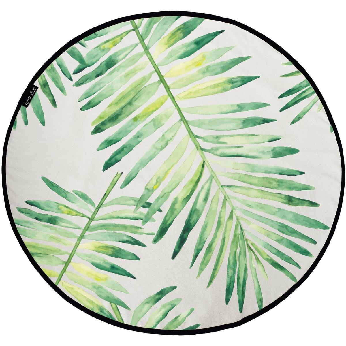 Butter Kings Bavlnený herný koberec Palm leaves, 130 cm