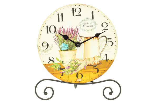 Stolní hodiny na stojánku, pr. 20 cm