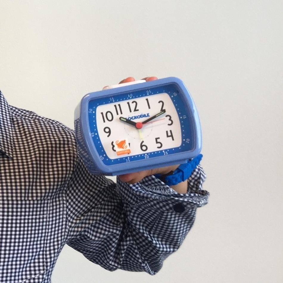 Produktové foto CAT2010 Budík Clockodile Wake up!, modrá