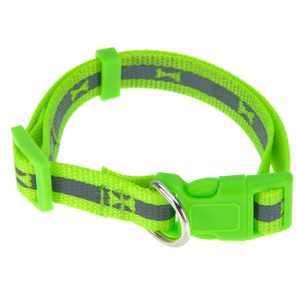 Fotografie Obojek pro psa Neon zelená, vel. S, S
