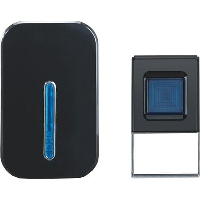 Solight bezdrátový zvonek do zásuvky 100m černá