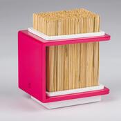 Bambusový stojan na nože Fakir 17 x 20 cm, růžový