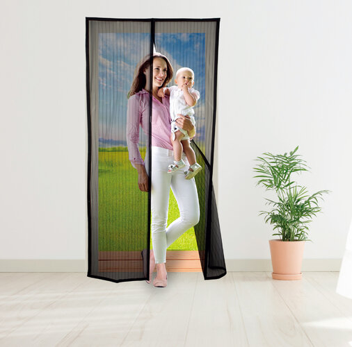 Moskytiéra do dverí s magnetmi, 210 x 100 cm