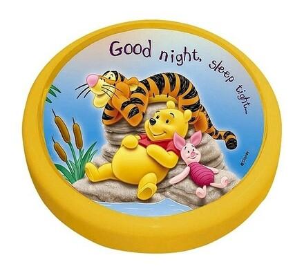 Dětské nástěnné svítidlo Rabalux Magic push light , žlutá, pr. 10 cm