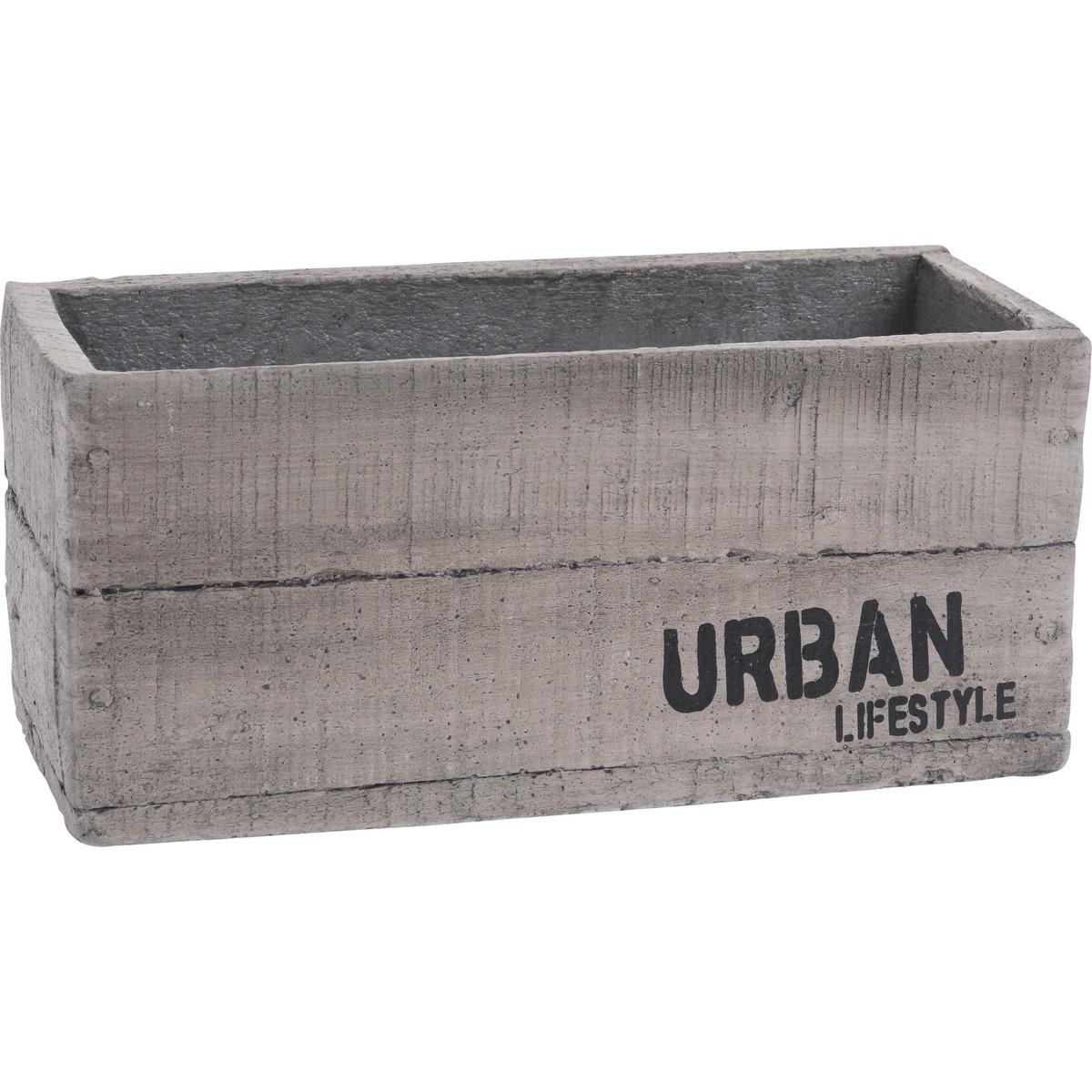 Osłonka cementowa na doniczkę Urban lifestyle, 23 x 11 x 10,5 cm