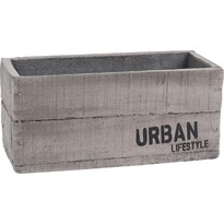 Recipient de ghiveci din ciment Urban lifestyle, 23 x 11 x 10,5 cm
