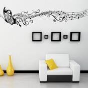 Samolepicí dekorace Motýl má noty